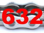 632 (Teilung 3/4 x 3/8 Zoll)