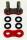 Enuma Nietschloss für NX-Ring Kette 525 MVXZ-2 rot