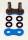 Enuma Nietschloss für NX-Ring Kette 525 MVXZ-2 blau
