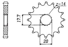 RITZEL Yamaha/MZ/Sachs, Z-15