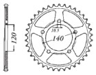 KETTENRAD Suzuki/Triumph, Z-45