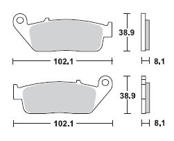 Bremsbelag Lucas MCB700 organischer Allround-Bremsbelag passend f/ür 1290 Super Duke R ABS Superduke 2013-2016