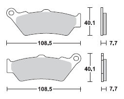 MCB672 Bremsbelagsatz Bremsklotz Bremsklötze Bremse Bremsen NEU TRW