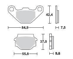 Bremsbel/äge TRW MCB523 f/ür KAWASAKI KLR 250 KL250D 85-96 vorne