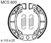vorne 83/ Lucas Bremsbacken TRW MCS800/110/x 25/mm TYP 800/Honda CY 50/80