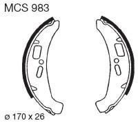 TRW Lucas MCS983 Bremsbackensatz