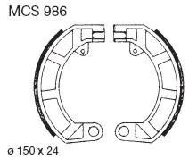 TRW Lucas MCS986 Bremsbackensatz