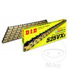 DID X-Ring Kette 525 VX3 G&B, 114 Glieder, offen mit...