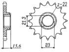 RITZEL Yamaha/MuZ, Z-15, gummiert