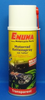 ENUMA Kettenspray transparent mit Teflon, für farbige Motorradketten,